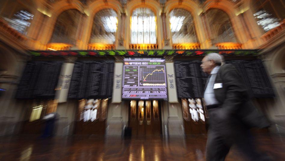 Börse in Madrid: Aufatmen nach Anleihe-Auktion in Spanien und Italien