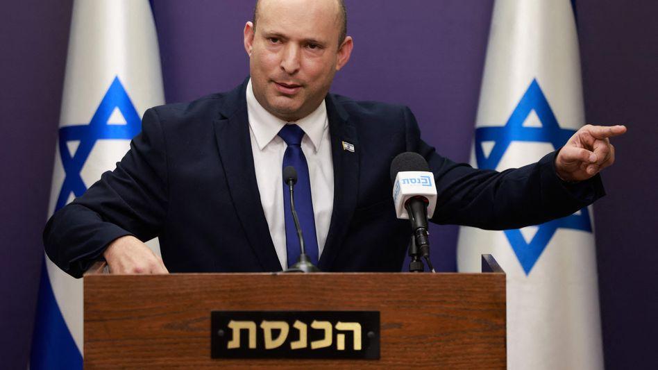 Israels Ministerpräsident Naftali Bennett in der Knesset in Jerusalem