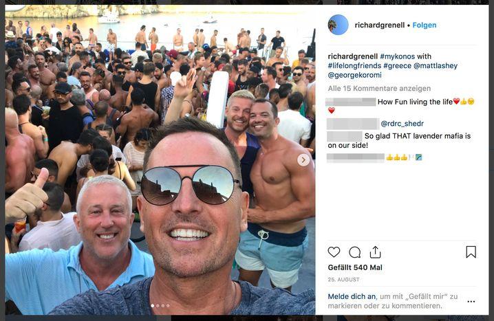 Schön schwul: US-Botschafter Richard Grenells Instagram-Post