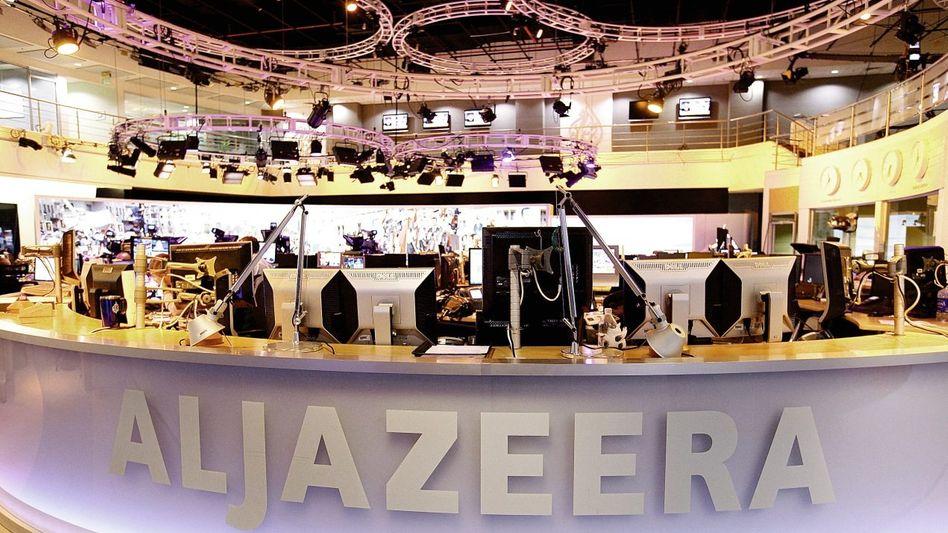 Al-Dschasira-Newsroom in Doha, Katar