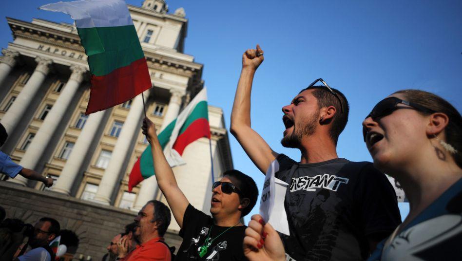 Demonstranten in Sofia: Wut auf die neue Regierung