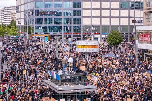 Antirassismusdemonstration in Berlin