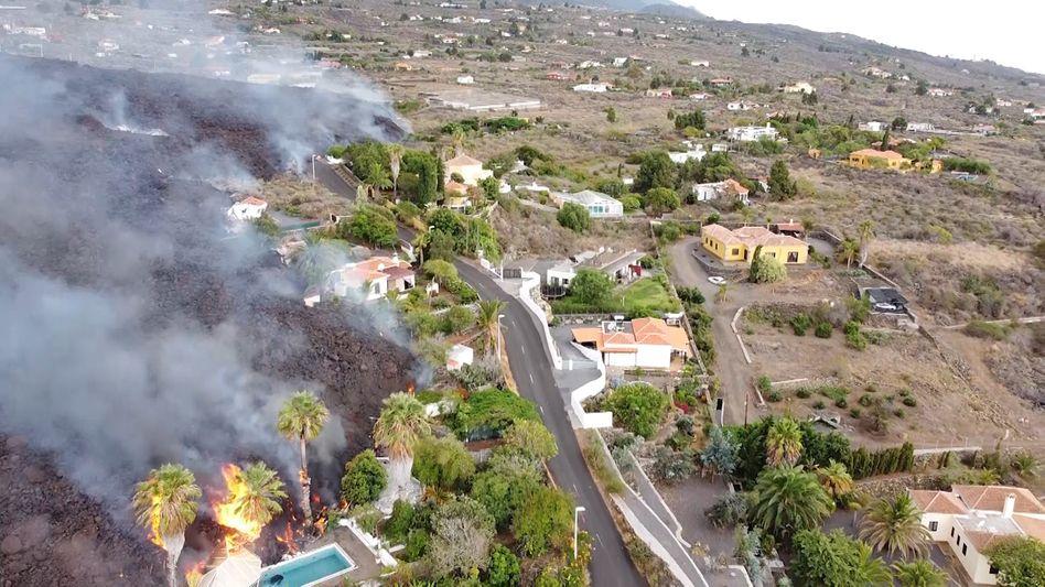 Lavaströme auf La Palma: Mehr als 160 Gebäude wurden bislang zerstört