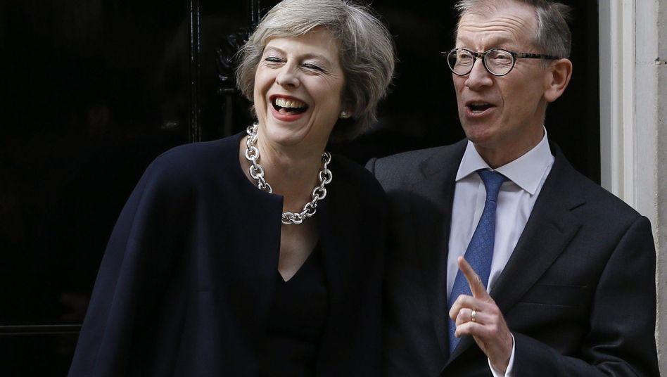 Neue Premierministerin Theresa May (mit Ehemann Philip May)