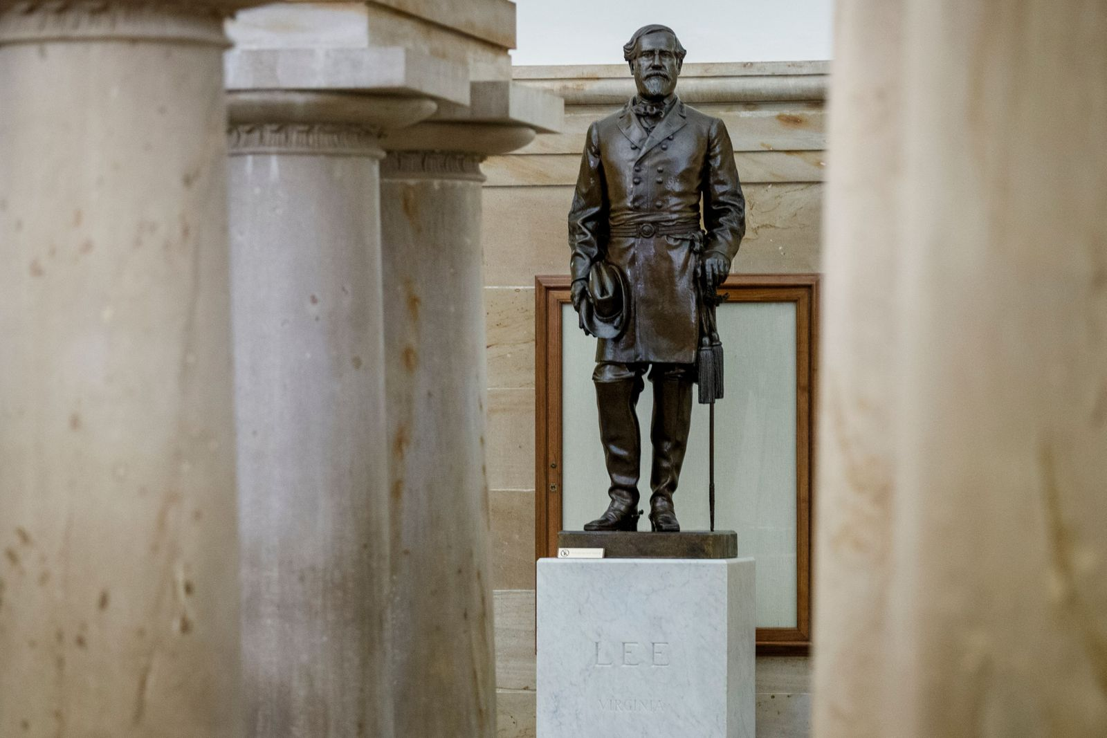 Statue of Confederate General Robert E. Lee on display in the US Capitol, Washington, USA - 07 Jul 2020