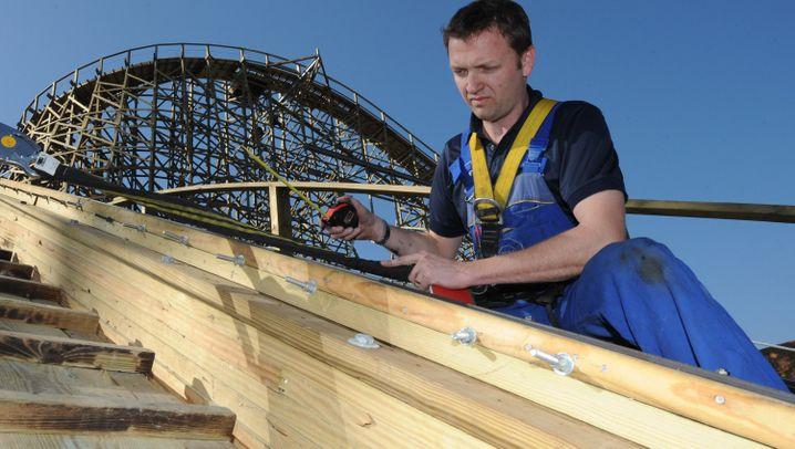 Achterbahntester: Ingenieur im Adrenalin-Rausch