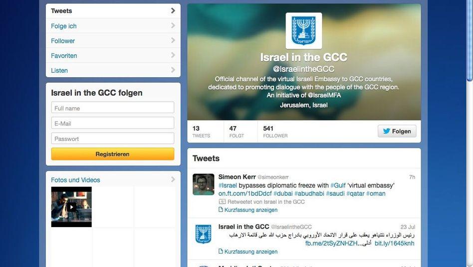 Virtuelle Botschaft auf Twitter: Israel will diplomatische Eiszeit brechen