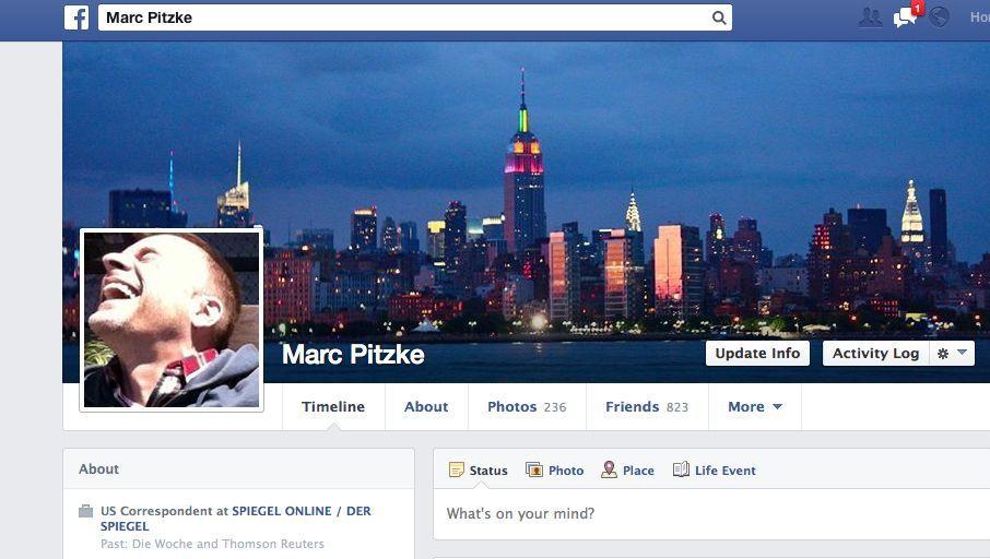 Facebook-Profil: Das Netzwerk wird zehn, Marc Pitzke ist fünfeinhalb Jahre dabei