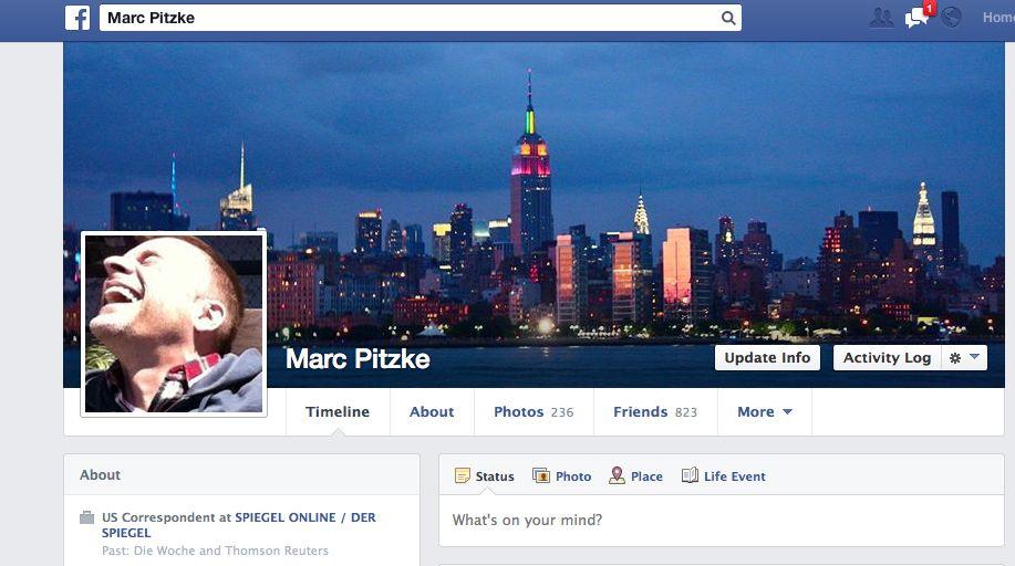 NUR ALS ZITAT Screenshot Facebook 2/ Marc Pitzke