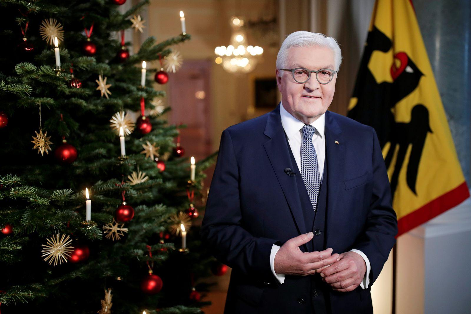German President Steinmeier sends traditional Christmas message in Berlin