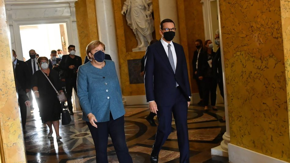 Merkel zu Besuch in Polen bei Morawiecki: »Politik ist doch mehr, als nur zu Gericht zu gehen«