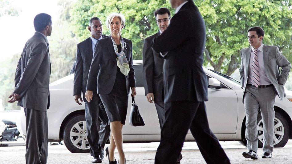 Finanzexpertin Lagarde beim Besuch in Brasília 2011: Sie kennt immer jemanden, der noch wichtiger ist