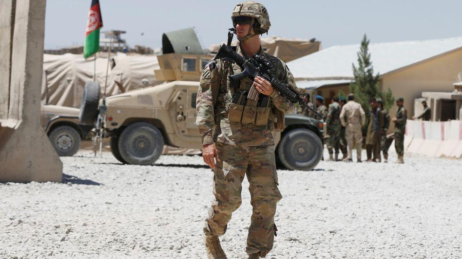 US-Soldat an einer Militärbasis der afghanischen Armee (Archivbild): »Viele Fehler sind auf die vorsätzliche Nichtbeachtung von Informationen zurückzuführen«