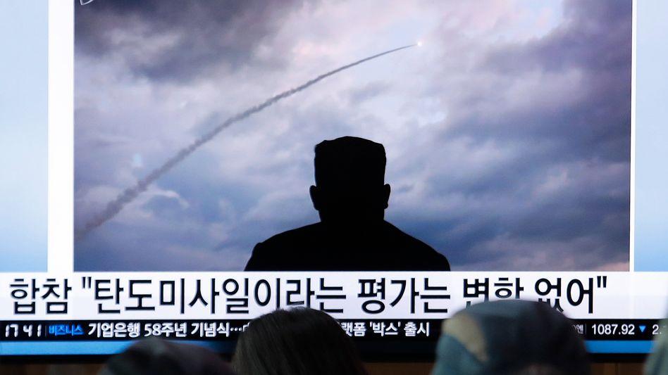 """Nordkoreanischer Raketentest (Archivbild): """"Darüber haben wir nicht gesprochen"""""""