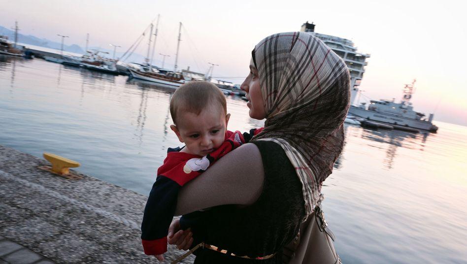 Geflüchtete Syrerin in Griechenland: Die Slowakei würde sie nicht aufnehmen