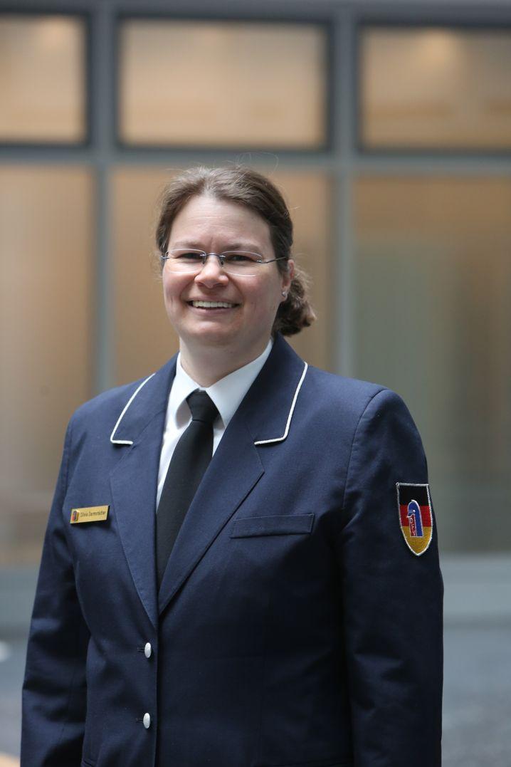 Silvia Darmstädter, Sprecherin des Deutschen Feuerwehrverbandes