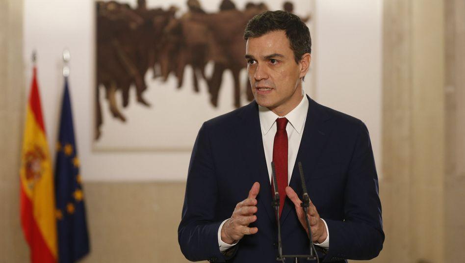 Spaniens PSOE-Chef Pedro Sánchez