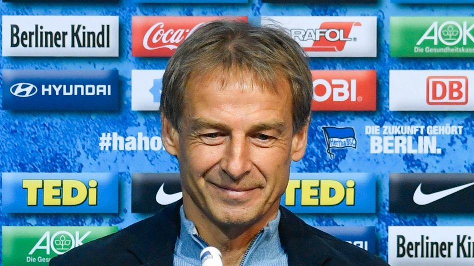 Da schien noch alles gut: Jürgen Klinsmann, als er seinen Job im November bei Hertha antrat