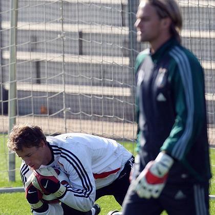 DFB-Keeper Lehmann (l.), Hildebrand: Vertrauen vom Bundestrainer