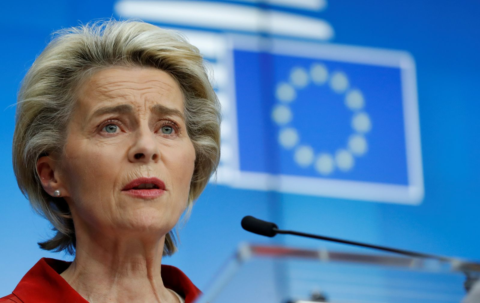 FILE PHOTO: EU leaders hold a virtual conference on measures against COVID-19