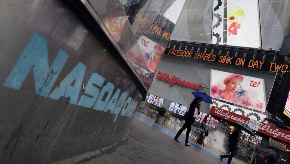 US-Tech-Börse Nasdaq: Facebook-Aktie auf Talfahrt