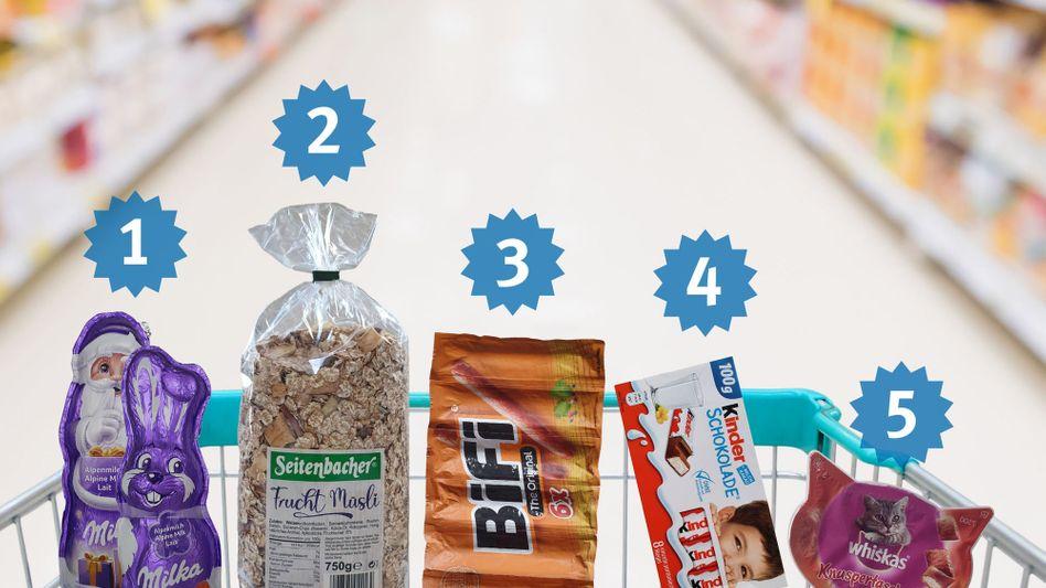 Nominierte Produkte für die »Mogelpackung des Jahres«: Wer gewinnt den Negativpreis?
