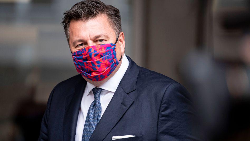 SPD-Innensenator Andreas Geisel mit Mundschutz