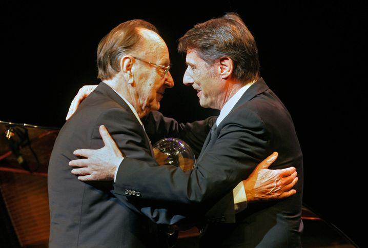Beim Steiger-Award in Bochum 2008 mit Hans-Dietrich Genscher