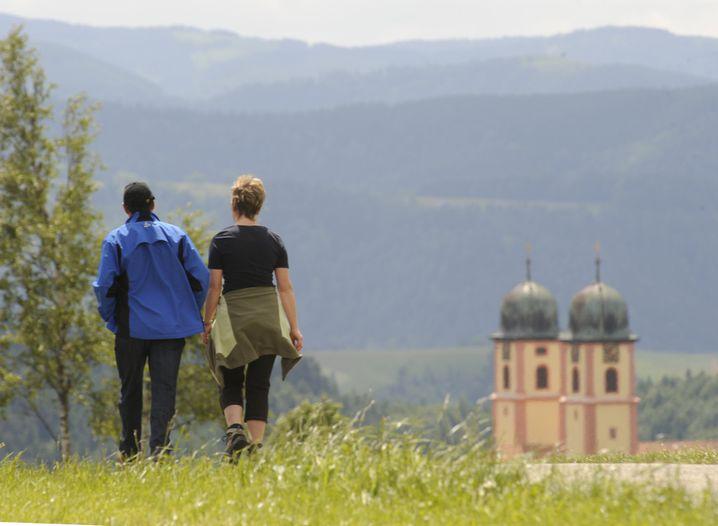 Wanderer bei St. Märgen: Genervt von Mountainbikern?
