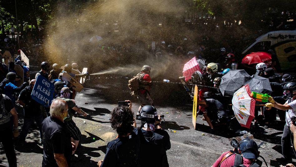 Ausschreitungen in Portland (Foto vom 22. August)