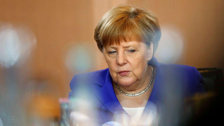 Angela Merkel bei einer Kabinettssitzung