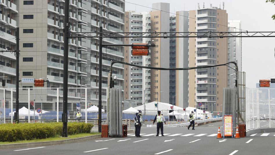 Das Olympische Dorf steht im Tokioter Hafenviertel Harumi
