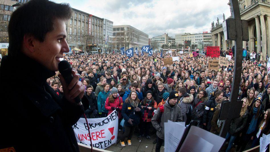 Schüler demonstrieren in Hannover (Januar 2015): Die Welt gestalten