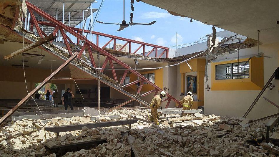 Eingestürzte Kirche in Zapopan: Hunderte Nachbeben binnen 24 Stunden