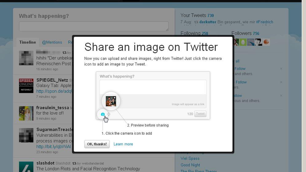 Raubbau: Twitter integriert Bilder-Funktion