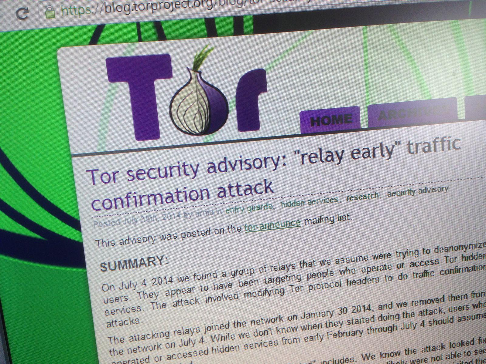 EINMALIGE VERWENDUNG Tor-Netzwerk