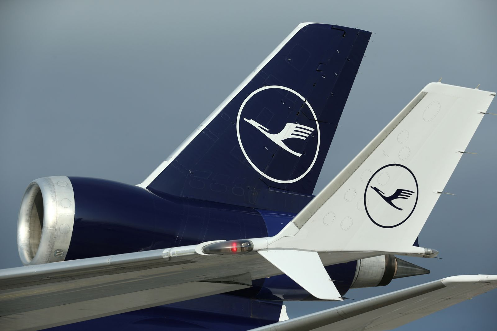 A Lufthansa McDonnell Douglas MD-11 cargo aircraft is pictured at Frankfurt airport