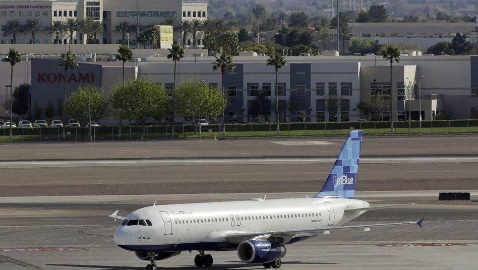 JetBlue-Maschine: Die US-amerikanische Billigfluggesellschaft hat ihren Sitz in New York