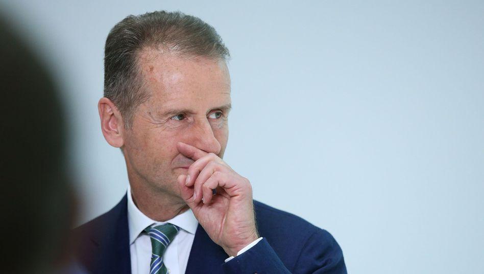VW-Vorstandsvorsitzender Herbert Diess stellt Forderungen an das neue Führungsteam