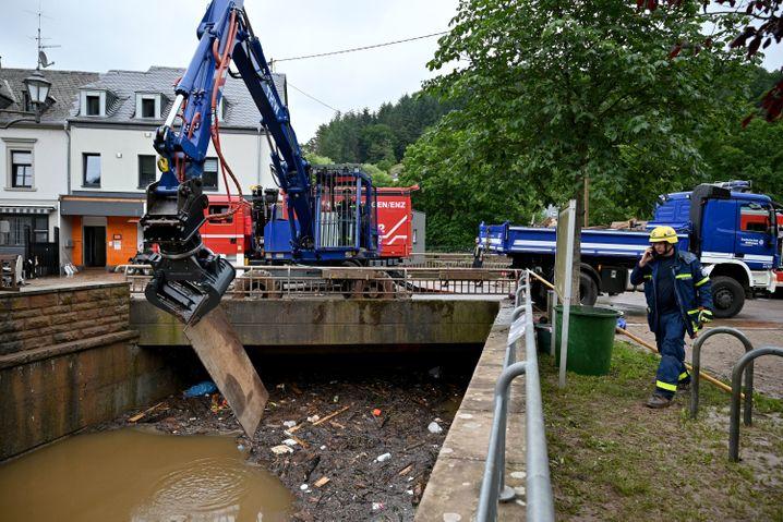 THW in Kordel (Rheinland-Pfalz): Geübt in Hochwasser
