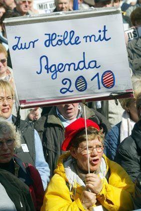Demonstration gegen Agenda: Allein in Berlin waren 250.000 auf der Straße