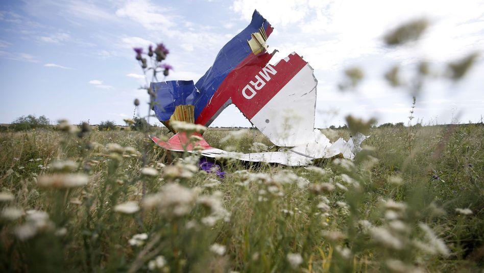 Trümmerteil von MH17 (am 20. Juli 2014): Moskaus Absturztheorien lassen sich kaum halten