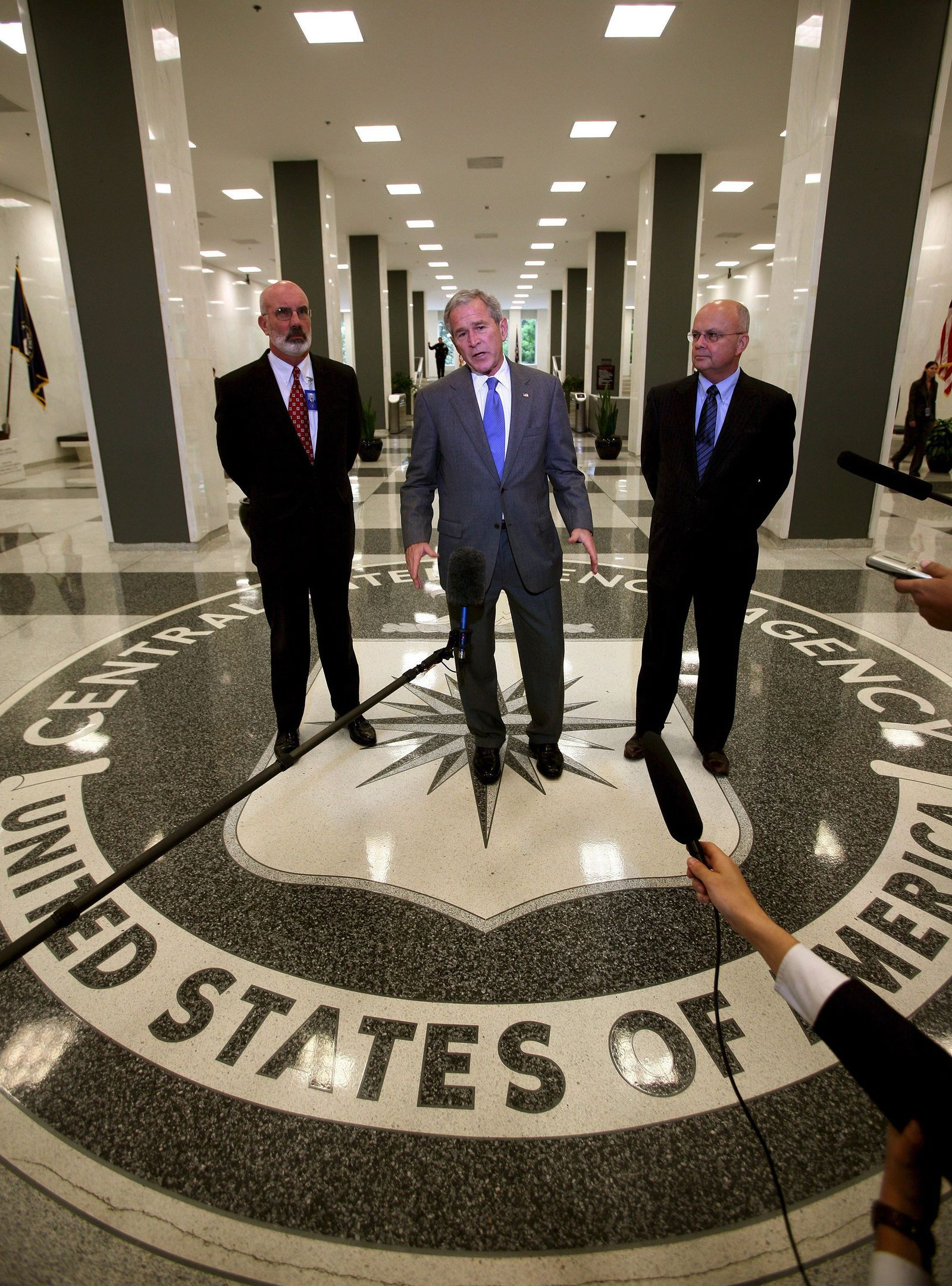 George W. Bush im CIA Hauptquartier
