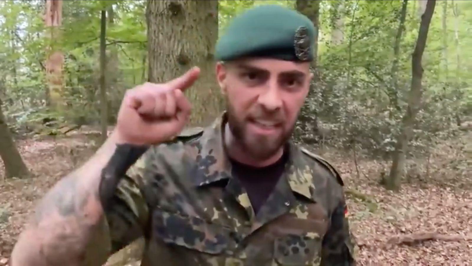 NUR ALS ZITAT Screenshot Bundeswehr Reservist zu Corona