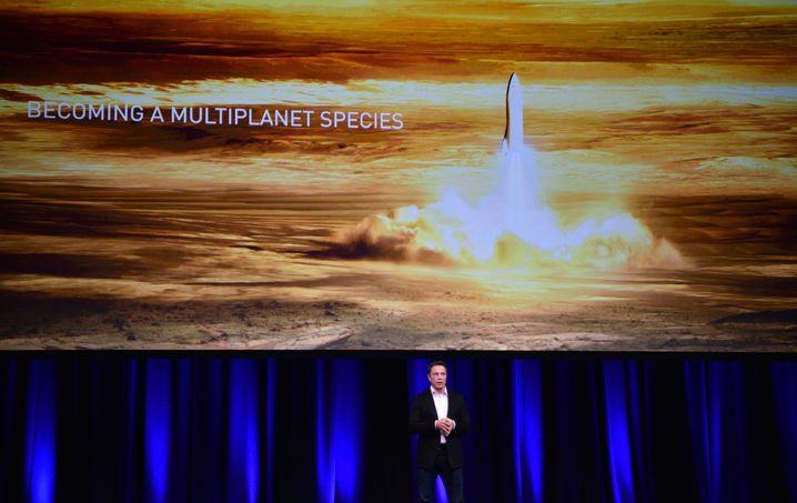Musk präsentierte seine Pläne zuletzt auf dem Internationalen Astronautenkongress am 29. September 2017
