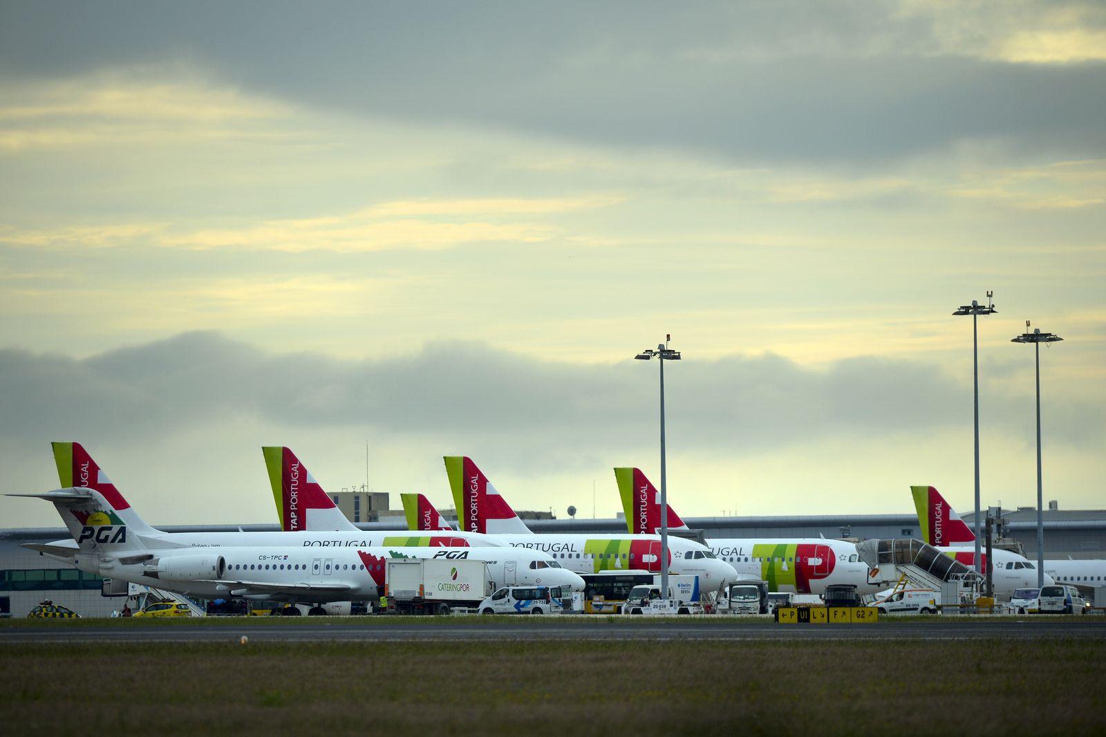 Flughafen/ Lissabon/ TAP