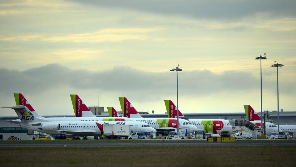 Flugzeuge der portugiesische Linie TAP