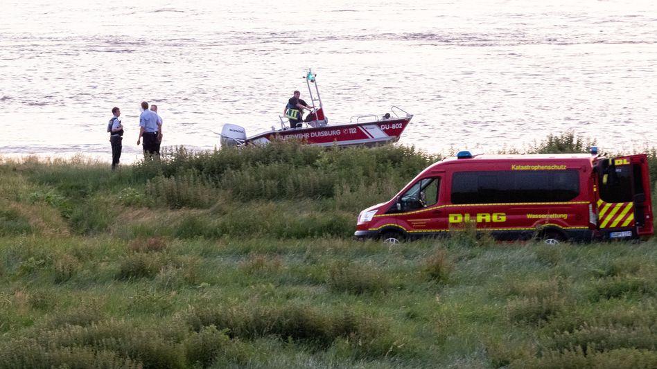 Rettungseinsatz am Rhein