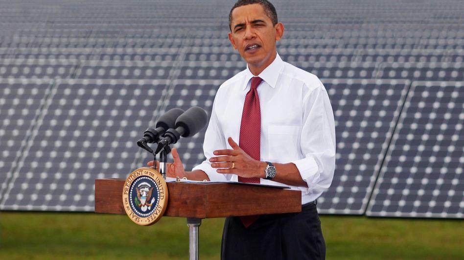 US-Präsident Obama am Solar-Kraftwerk (in Arcadia, Florida): Neuer Stil, neuer Ton