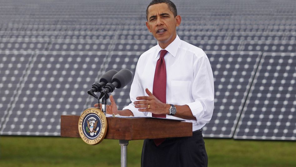 Barack Obama speaks at a solar plant in Arcadia, Florida: The US president has taken a drubbing from critics in Europe recently. Are they wrong?